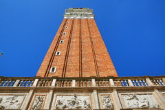 Campanile, Basilica di S. Marko, Old Buildings, Venice, Venezia, Italy Royalty Free Stock Images