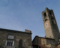 The campanile of Bergamo Royalty Free Stock Photography