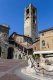 Campanile a Bergamo, Italia Immagine Stock