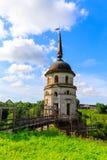 Campanile in cattedrale dell'ascensione del signore Monastero di Spaso-Sumorin Totma La Russia La Russia fotografie stock libere da diritti