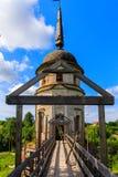 Campanile in cattedrale dell'ascensione del signore Monastero di Spaso-Sumorin Totma La Russia La Russia immagini stock