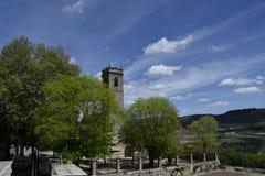 Campanile da igreja de St Mary, Brihuega, Espanha fotografia de stock