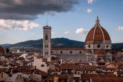 campanile del dome fiore佛罗伦萨giotto玛丽亚・圣诞老人 库存照片