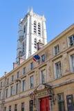 Campanile del Lycee Henri-IV e di Clovis - Parigi, Francia fotografie stock