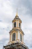Campanile del monastero di Rizopolozhensky Immagini Stock