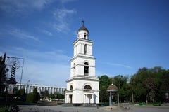 Campanile della cattedrale della natività di Cristo a Chisinau, Moldavia Immagine Stock