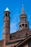 Campanile della cattedrale di Cremona, Cremona, Italia Fotografie Stock Libere da Diritti