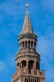 Campanile della cattedrale di Cremona, Cremona, Italia Immagini Stock Libere da Diritti
