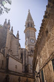 Campanile della cattedrale di Manacor Fotografia Stock