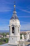 Campanile della cattedrale di Santa Maria la Real de La Almudena Fotografia Stock