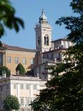 Campanile della cattedrale di Santa Maria Maggiore a Bergamo, Italia Immagini Stock