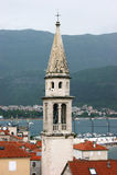 Campanile della chiesa in Budua Fotografia Stock
