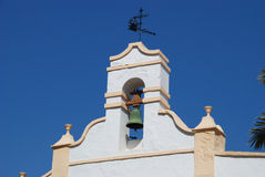 Campanile della chiesa di Alora, Spagna Fotografie Stock