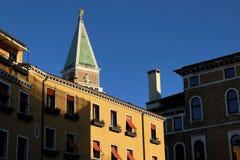Campanile di圣Marco,威尼斯地标,意大利 免版税库存图片