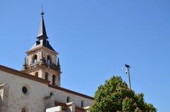 Campanile di Alcala De Henares Cathedral Storia di viaggio di architettura immagine stock