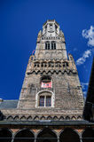 Campanile di Bruges nel Belgio fotografie stock libere da diritti