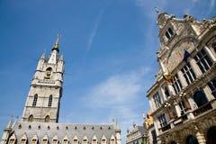 Campanile di Gand, Belgio Immagini Stock Libere da Diritti