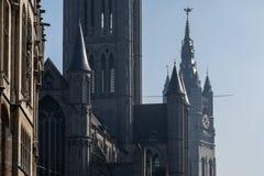 Campanile di Gand con il drago Fotografia Stock Libera da Diritti