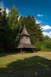 Campanile di legno da Trstene - museo del villaggio slovacco, je del ¡ del hà di JahodnÃcke, Martin, Slovacchia Immagini Stock