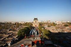 Campanile di Pechino osservato dalla torre del tamburo Fotografia Stock Libera da Diritti