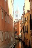 Campanile di san marco in the midst of the houses overlooking th Royalty Free Stock Images