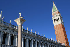 Campanile di San Marco, punto di riferimento di Venezia, Italia Fotografia Stock Libera da Diritti