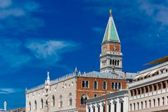 Campanile di San Marco in summer day, Venice Royalty Free Stock Images