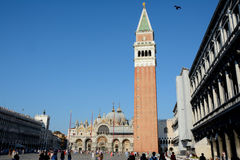 Campanile di San Marco tower in Venice, Italy Stock Image
