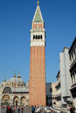 Campanile di San Marco tower in Venice, Italy Stock Photos