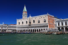 Campanile and doge palace Royalty Free Stock Photography