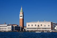 Campanile and doge palace on piazza San Marco, Venice, Italy Stock Photo
