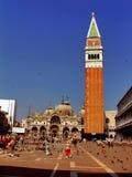 Campanile en Piazza San Marco Stock Afbeeldingen