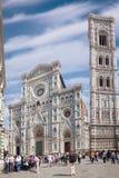 Campanile för ` s för domkyrka Santa Maria del Fiore Duomo och Giotto Royaltyfria Foton