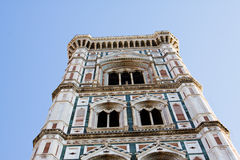 Campanile of Giotto. Details on a cathedral in Florence Italy Campanile of Giotto Royalty Free Stock Image