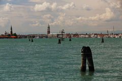 Campanile, Grand Canale, Old Buildings, Venice, Venezia, Italy Royalty Free Stock Image
