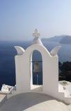 Campanile i Santorini, Grekland Royaltyfria Bilder