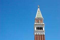 Campanile - Klocka torn i Venezia Royaltyfri Fotografi