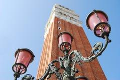 Campanile klokketoren in Venetië, Italië Stock Foto