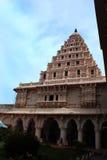 Campanile nel palazzo di maratha del thanjavur Fotografia Stock Libera da Diritti