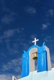 Campanile a OIA, Santorini fotografie stock libere da diritti