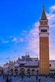 Campanile på piazza San Marco fotografering för bildbyråer