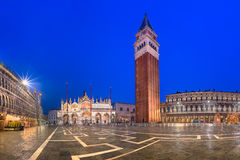 Campanile and Piazza San Marco in the Morning, Venice Italy Royalty Free Stock Photography