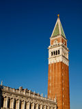 Campanile on piazza San Marco in Venice stock image