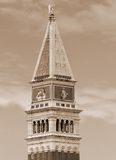 Campanile of Saint Mark in Venice in Italy Royalty Free Stock Photography