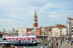 Campanile of San Marco in Venice - Italy. Royalty Free Stock Image