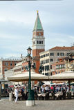 Campanile of San Marco in Venice - Italy. Stock Image