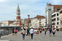 Campanile of San Marco in Venice - Italy. Stock Photos