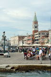 Campanile of San Marco in Venice - Italy. Royalty Free Stock Photo