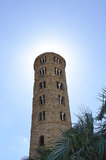 The campanile of S. Apollinare Nuovo Stock Photos