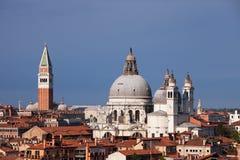 Campanile and Santa Maria della Salute, Venice Stock Photo
